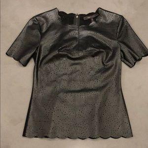 BCBG Tulum faux-leather top
